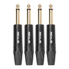 4 pièces 6.35mm Mono prise mâle connecteur prise bricolage à souder pour Microphone