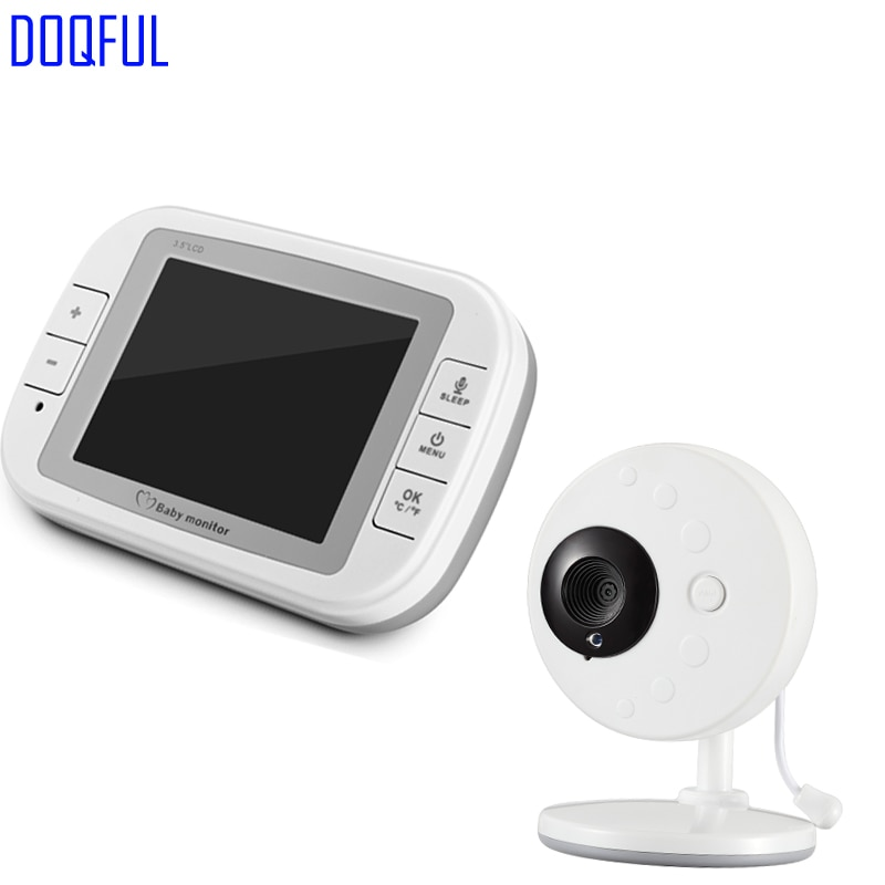 "3,5 ""Portátil inalámbrico Baby Monitor Digital intercomunicador de control de temperatura de cuna Baba electrónica Com Video cámara de niñera"