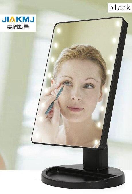 espelho para maquiagem com luz de led 16 leds com carregador usb tela sensivel ao
