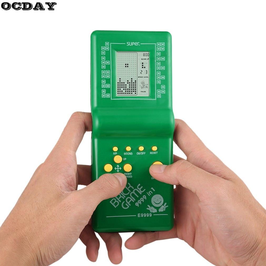 Ретро LCD игра электронная тетрис кирпич классический ручной аркадный Карманный игровой автомат для детей развивающие игрушки с игровой муз...