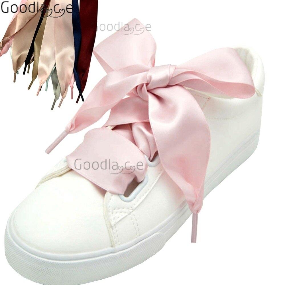 4cm Super Wide Satin Shoelaces Flat Ribbon Shoe Laces 100cm/39Inch