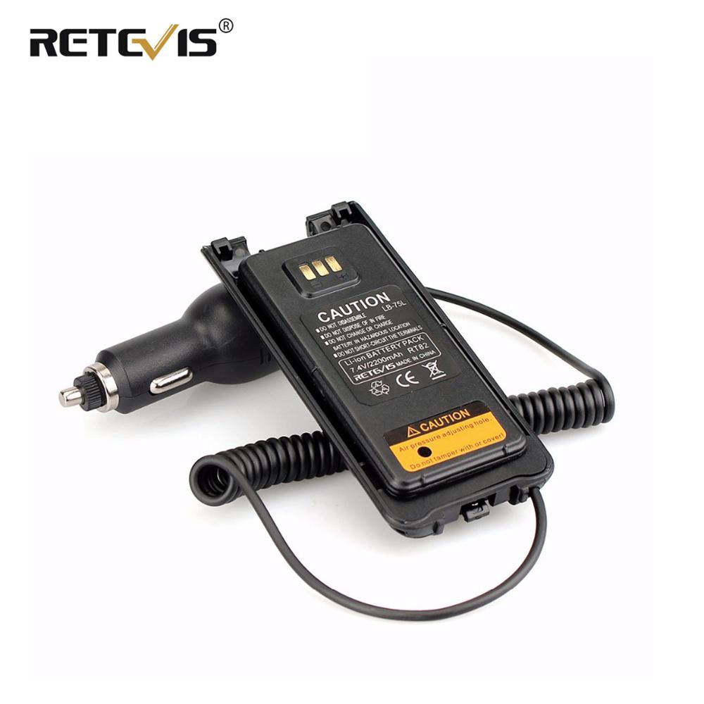 Новое черное автомобильное/Автомобильное зарядное устройство, Устранитель аккумулятора 12В-24В для двухдиапазонного DMR Retevis RT82, аксессуары д...
