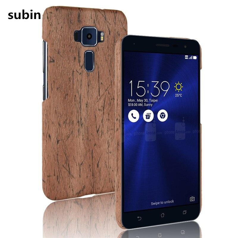 Для Asus Zenfone 3 ZE552KL чехол для телефона бампер PC пластик PU кожаный чехол для ASUS Z012D Z012DA Z012DC 5,5 дюймов деревянные чехлы