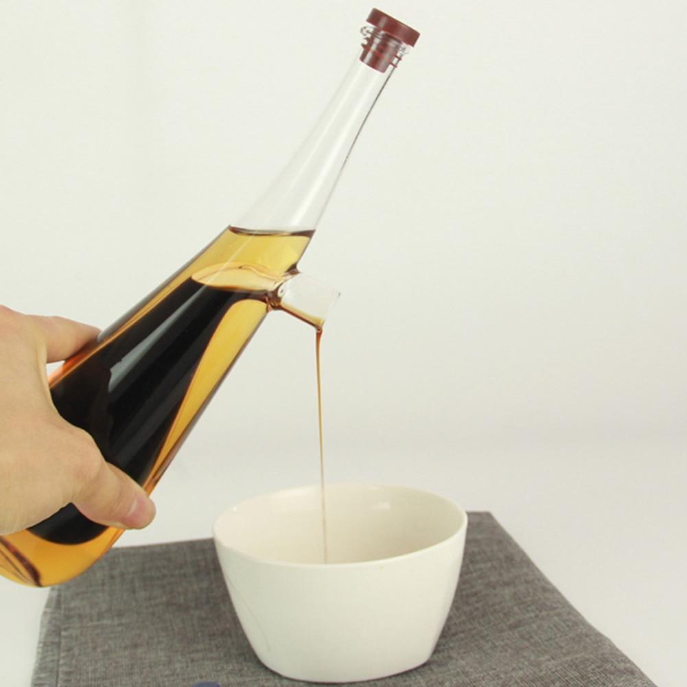 Home Glass dispensador de aceite de oliva botella vertedor de aceite botellas dispensadoras aceite vinagre salsa botella cocina vajilla Set