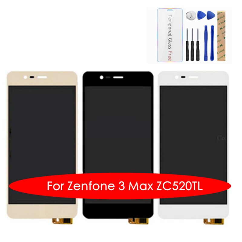 100% Getest Voor Asus Zenfone 3 Max ZC520TL Lcd-scherm + Frame 10 Screen Touch Panel X008D LCD Digitizer Vervanging onderdelen