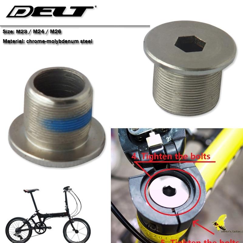 1 Uds m23 m24 m26 bicicleta plegable bicicleta horquilla tuerca grande tornillo bloqueo marco elevador tornillo Accesorios