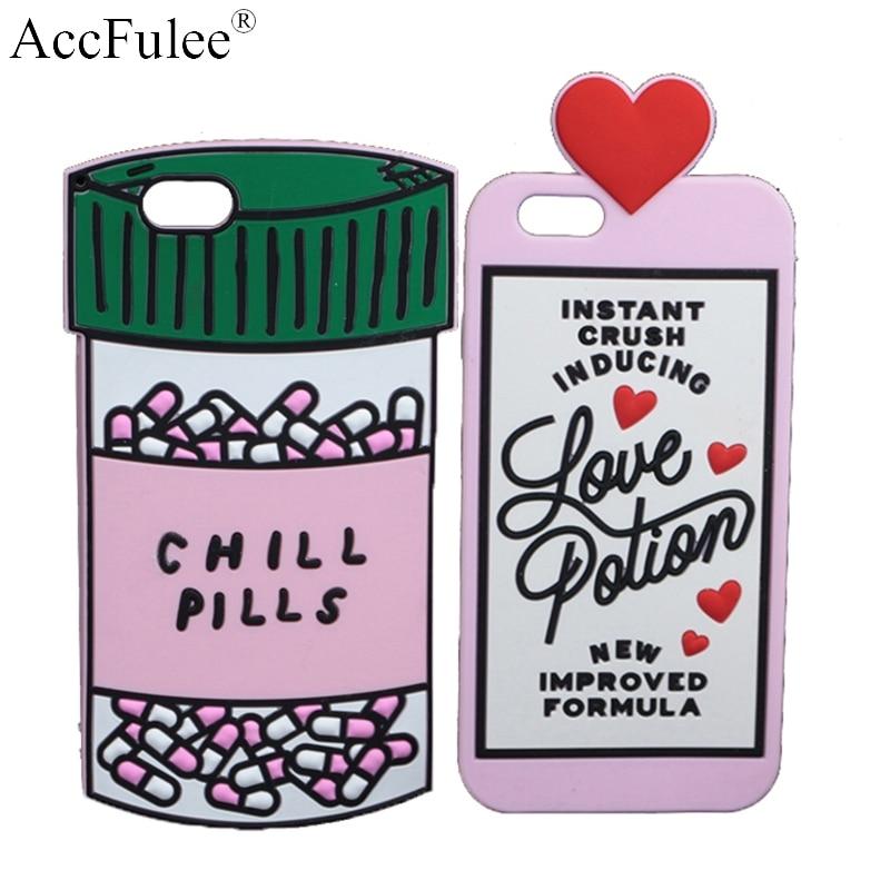 3D бутылка для таблеток Love Potion, мягкий чехол для iPhone X, XR, XS Max, 5C, SE, 5S, 6, 6S, 7, 7, 8 Plus, милые резиновые fundas, чехлы для телефонов