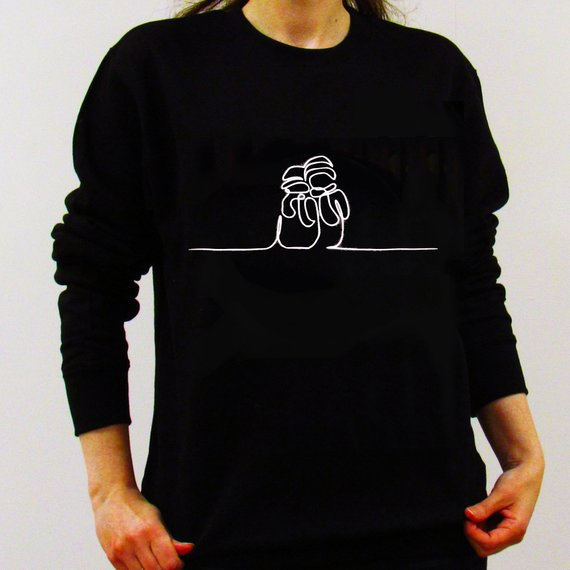 Hipster Spring Autumn Tops Snowman Christmas Sweatshirt Black Clothing Xmas Snowman Jumper High Quality Outfits