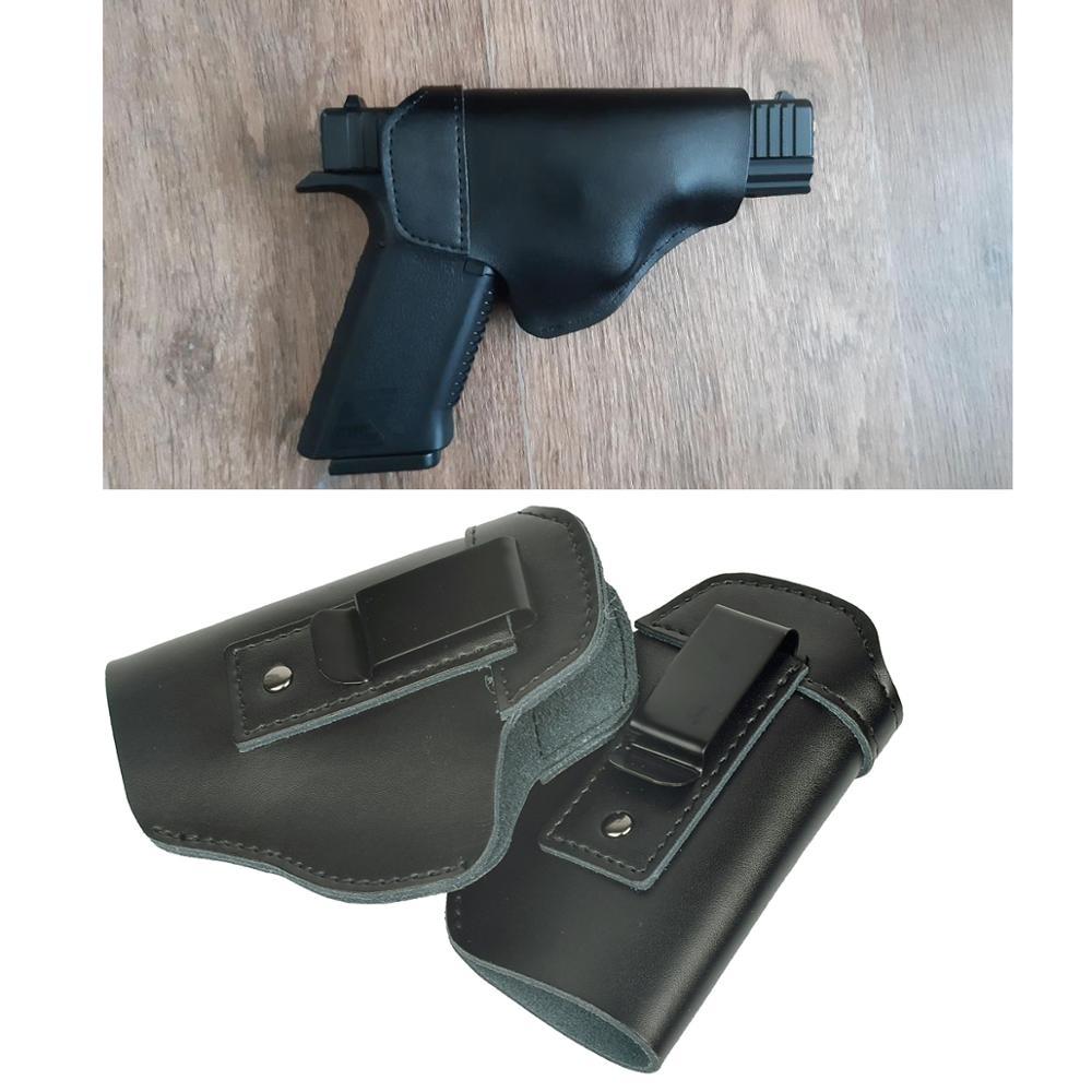 Левосторонний кожаный IWB скрытый пистолет кобура оружие для Glock 17 19 22 43 Sig Sauer P226 Ruger Beretta 92 M92 s & w пистолеты