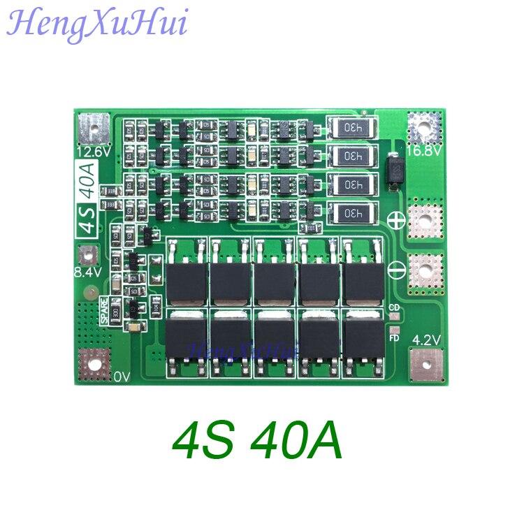 4S40A Furadeira Unidade de Placa de Proteção Da Bateria De Lítio Do Motor 14.8 V 16.8 V PCB Board (Empatou o Carregamento Opcional) 20 unidades/pacote