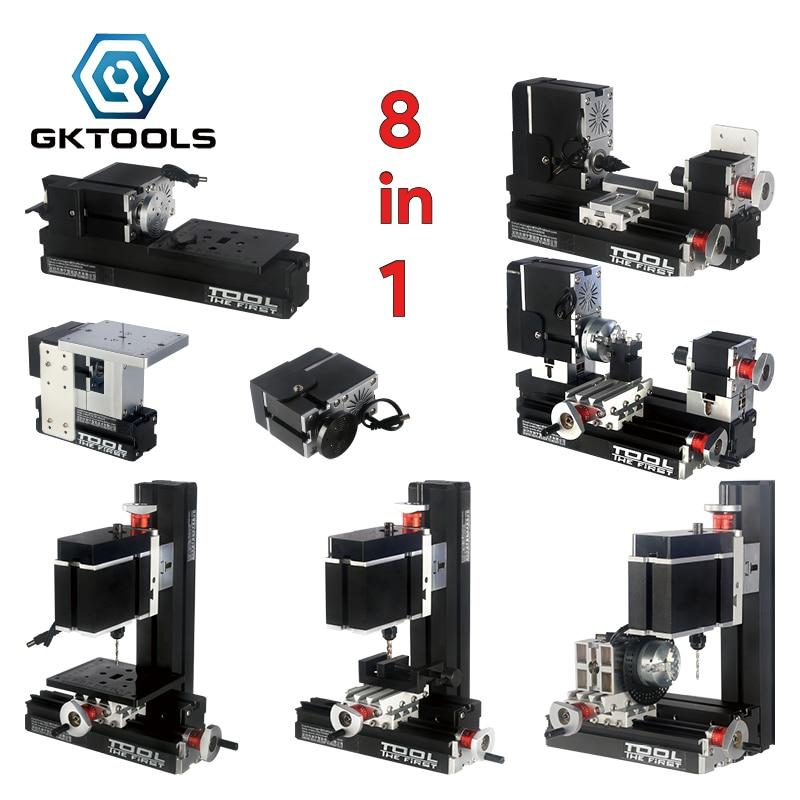 TZ8000MP 8 en 1 DIY Electroplated BigPower Mini KIT de torno de Metal, Motor 60W 12000r/min, Educación estandarizada para niños, el mejor regalo