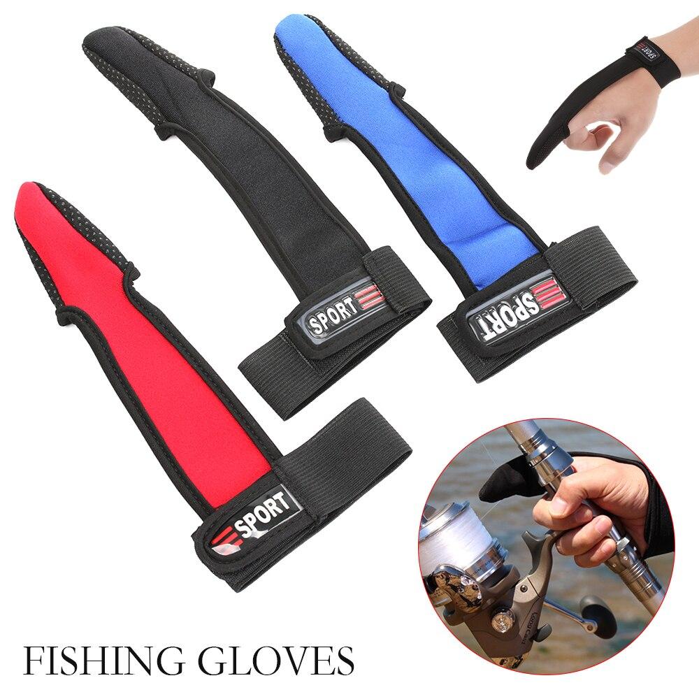 1 unidad transpirable antideslizante de un solo dedo de fundición guantes protectores de los pescadores suave un dedo guante de pescado accesorios de pesca