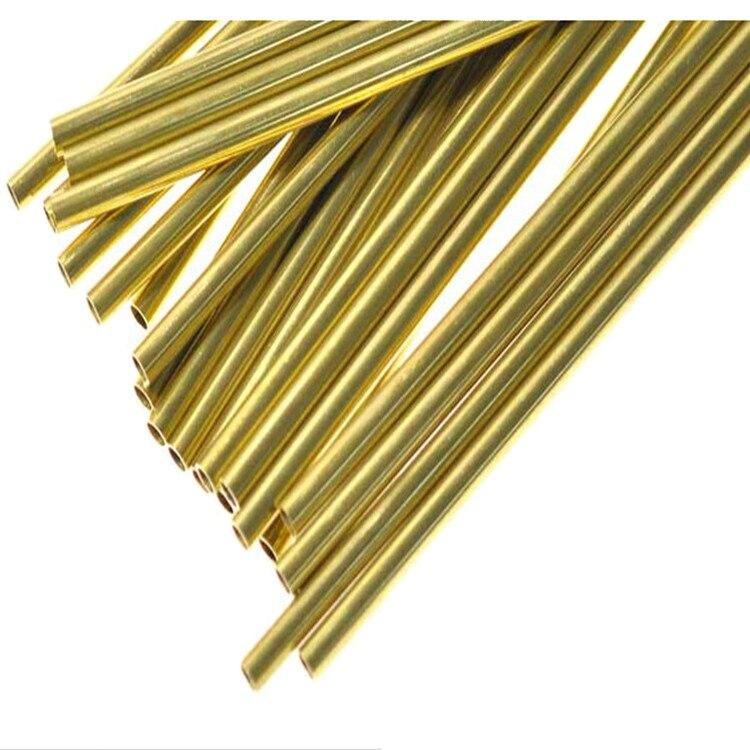 Producto personalizado, tubo de latón respetuoso con el medio ambiente H62, tubo de cobre capilar, servicio de corte, pared OD30 2mm, longitud 50cmx 2 uds