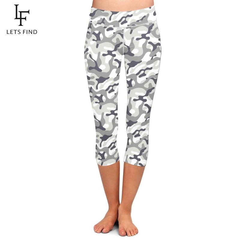 High Quality Women Capri Leggings High Elastic Camouflage Printing Leggings Summer  Women Plus Size Fitness Pants