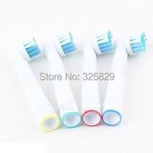 1 pack aucune piste nombre souple poils EB17-4 SB-17A électrique têtes de brosse à dents, pinceau de rechange tête, hygiène bucco-dentaire brosse à dents