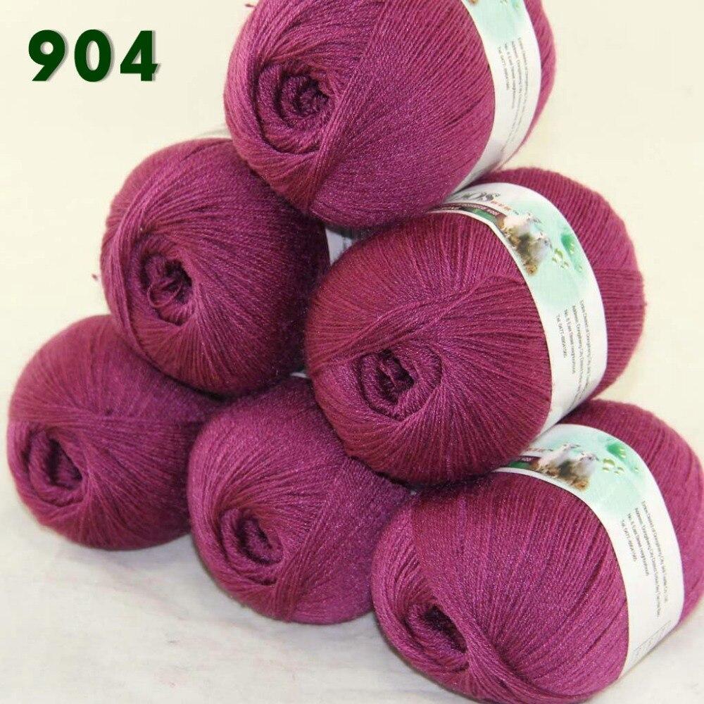 Lot of 6 Skeins Fine Lace Soft Wool Acrylic Cashmere Yarn  Knittin  Bramble berry   904