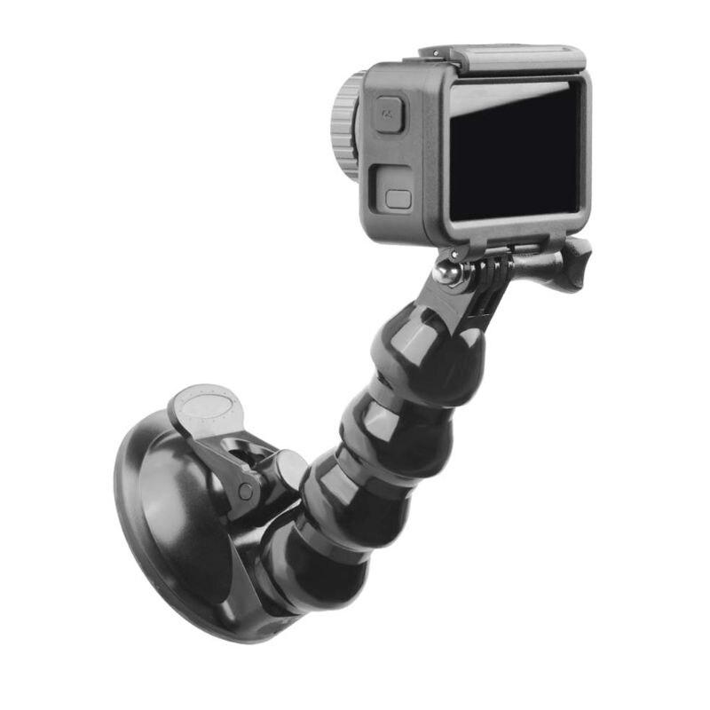 Preto suporte do carro titular ventosa montagem adaptador de condução gravador bola cabeça tripé para dji osmo bolso ação câmera accessori