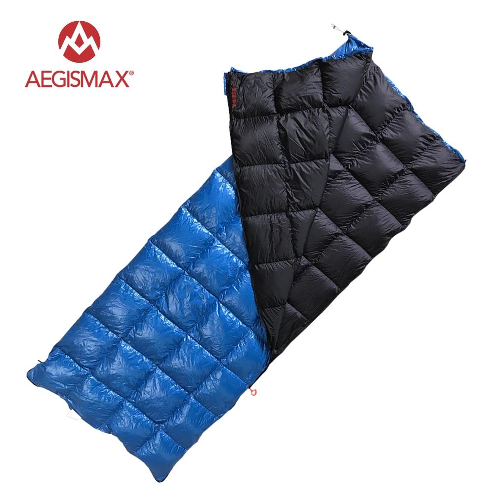 AEGISMAX Ultra ligero 90% plumón de pato blanco bolsa de dormir camping mochila tipo sobre saco de dormir al aire libre y familia