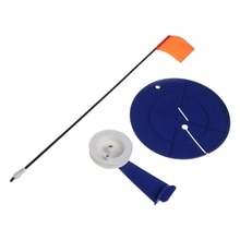 Support de canne à pêche disque rond en plastique matériel de pêche sur glace Support équipement de pêche télescopique de lac