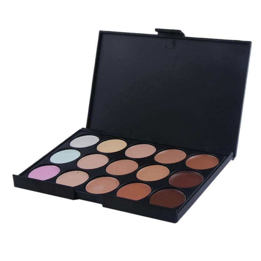 Paleta de maquillaje profesional de 15 colores corrector crema mate camuflaje corrector para maquillaje sombra de ojos ju12 drop shipping