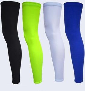 Quick Dry Elastic Lycra Basketball Cycling Leg Warmers Road Bike Calf Thigh Compression Knee Pads Soccer Climb Running Sleeve