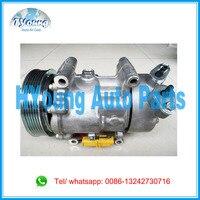 6V12 1438F auto ac compressor for Peugeot 206 Bipper 1.4L 6453.JP 6453.KS 6453.LF auto air pump 9646273380 9639078180