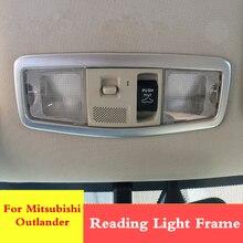 Cadre pour lampe de lecture de voiture   Cadre de lampe de lecture chromé, coffre arrière, couvercle de cadre pour Mitsubishi ASX Outlander PHEV 2018 2017 2016 2015 2014