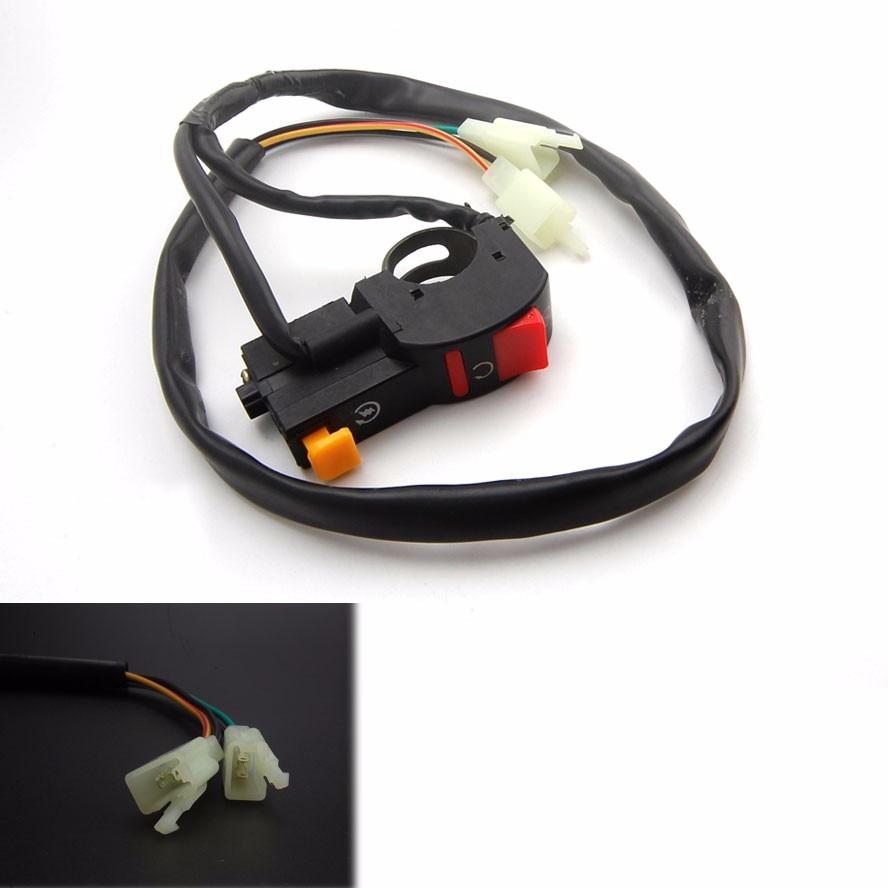 Luz de advertencia de doble destello para motocicleta BBQ @ FUKA, lámpara de señal de giro compatible con el interruptor para Honda Suzuki ect.