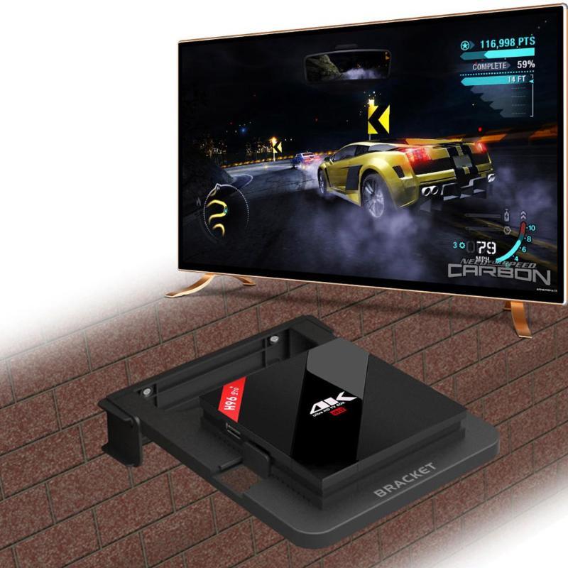 100-138 мм Универсальный Кронштейн для ТВ-бокса подставка для верхней коробки настенный держатель кронштейн для маршрутизатора синий для H96 Pro ...