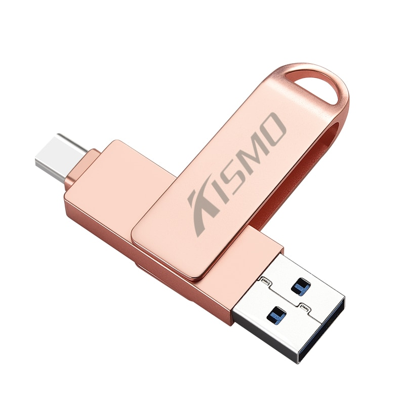 Kismo USB tipo-C Flash Drive USB3.0 disco Flash OTG Pen Drive para Samsung S8 S9 Nota 8 Huawei P10 P20 Mate 9 10 XiaoMi Mi6 Mi8 5X