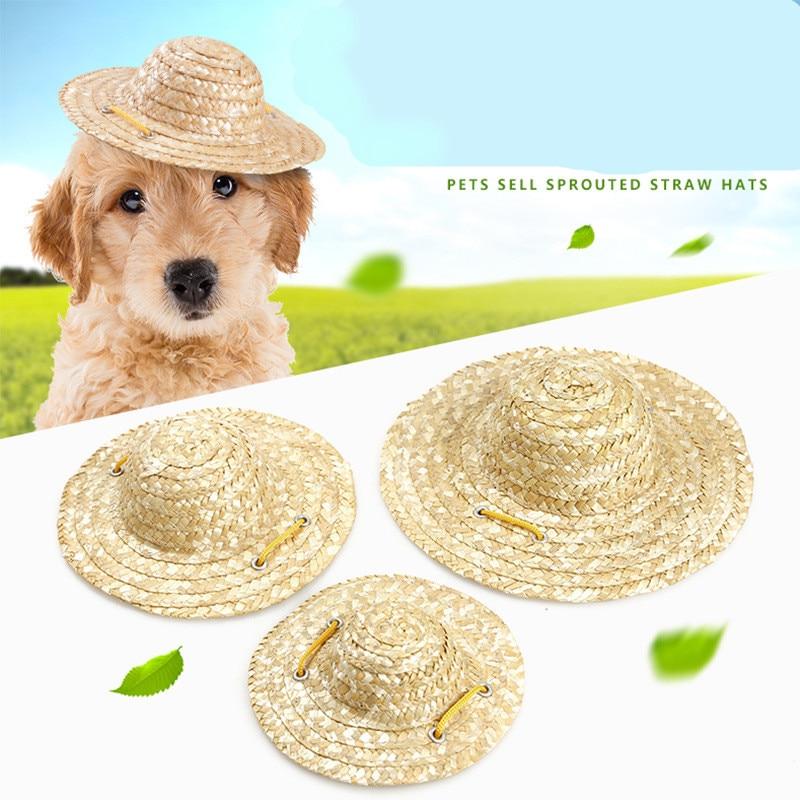 Gorras para perro, gatos, mascotas clásicas, uso de hierba hecho a mano como estilo de granjero chino, lindas mascotas pequeñas, tomar sombrero con fotos para el verano, envío gratis
