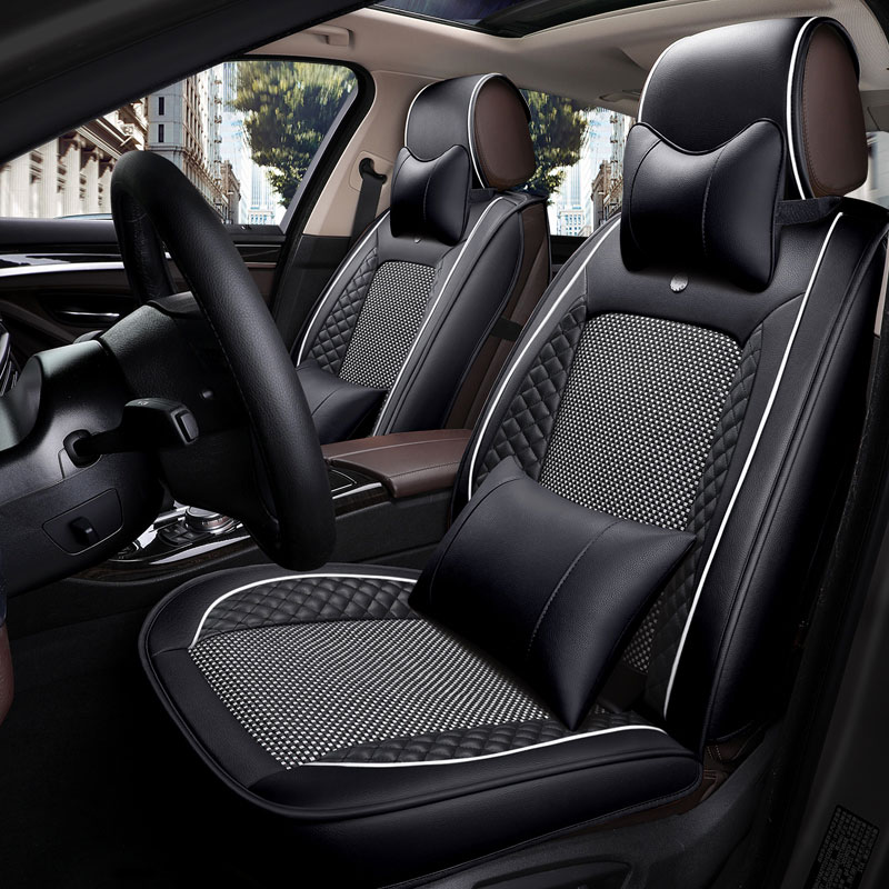 Funda Universal de cuero para asiento de coche para Kia k7 kx5 mohave niro optima k5 picanto rio 3 k2 k3 spectra venga carens