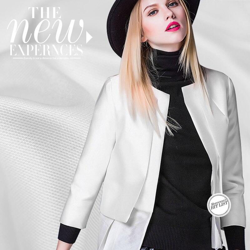 Jedwab wełna dwustronna tkanina z wełny jedwabnej wysokiej jakości sukienka jedwabna tkanina odzieżowa 39mm biały