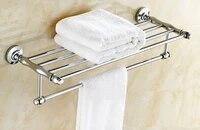 wall mounted polished chrome brass bathroom large towel bar towel rail holder shelf bathroom accessory mba801