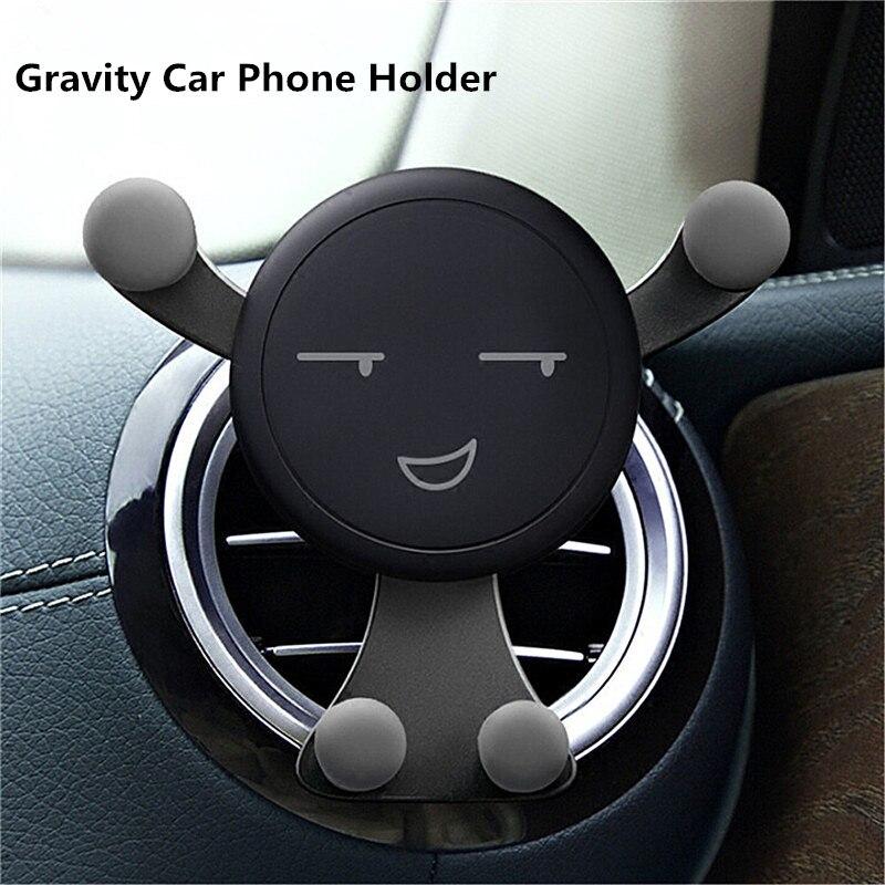 Suporte do carro móvel reação por gravidade carro montar suporte do telefone para samsung s9 s8 gps suporte do telefone para o iphone x xs 8 7 6 plus