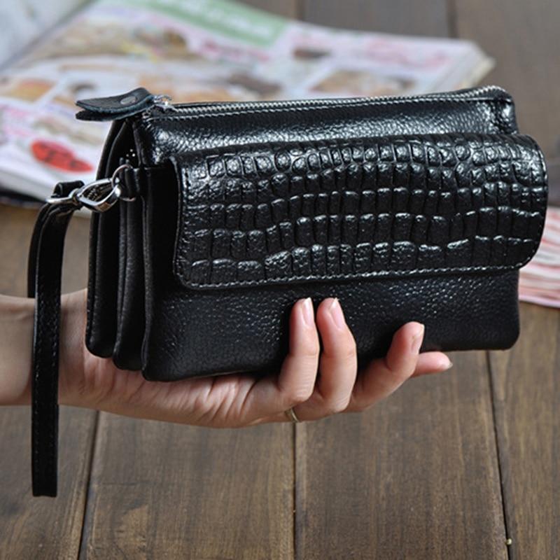 men purse money bag business clutch wallet real leather wrist money bags genuine leather purse wallets bag Genuine Leather Clutch Women Long Wallets Women Money Purse Large Capacity Clutch Coin Purse Ladies Wallet Phone Purse Cartera