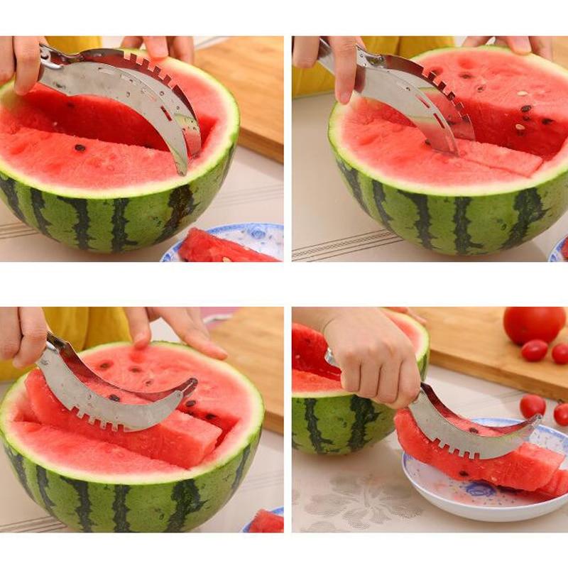 Rebanador de fruta de sandía artefacto Splitter cuchillo de fruta rebanador de carne fácil de usar Kichen proveedores portátil conveniente funcional