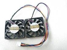 Set of 2 fans For Shuttle XH170V Slim PC Computer APISTEK SA61O2U SA6102U PFGA 60*60*10MM 60x60x10mm 60mm 6CM 4Pin Cooling Fan