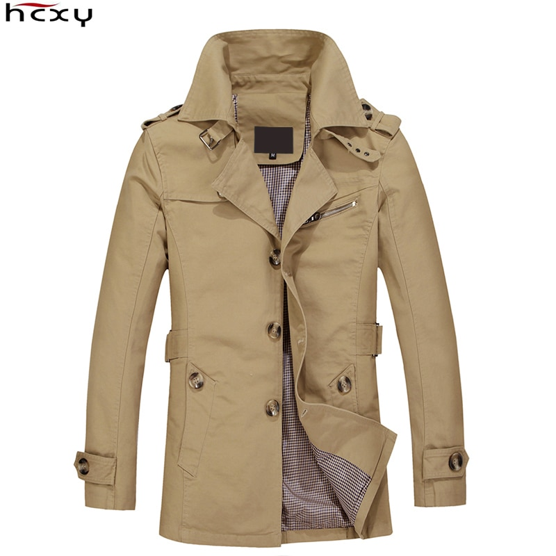 HCXY бренд 2019 Мужское пальто весенняя куртка пальто мужская хлопковая ткань ветровка мужской плащ Masculina