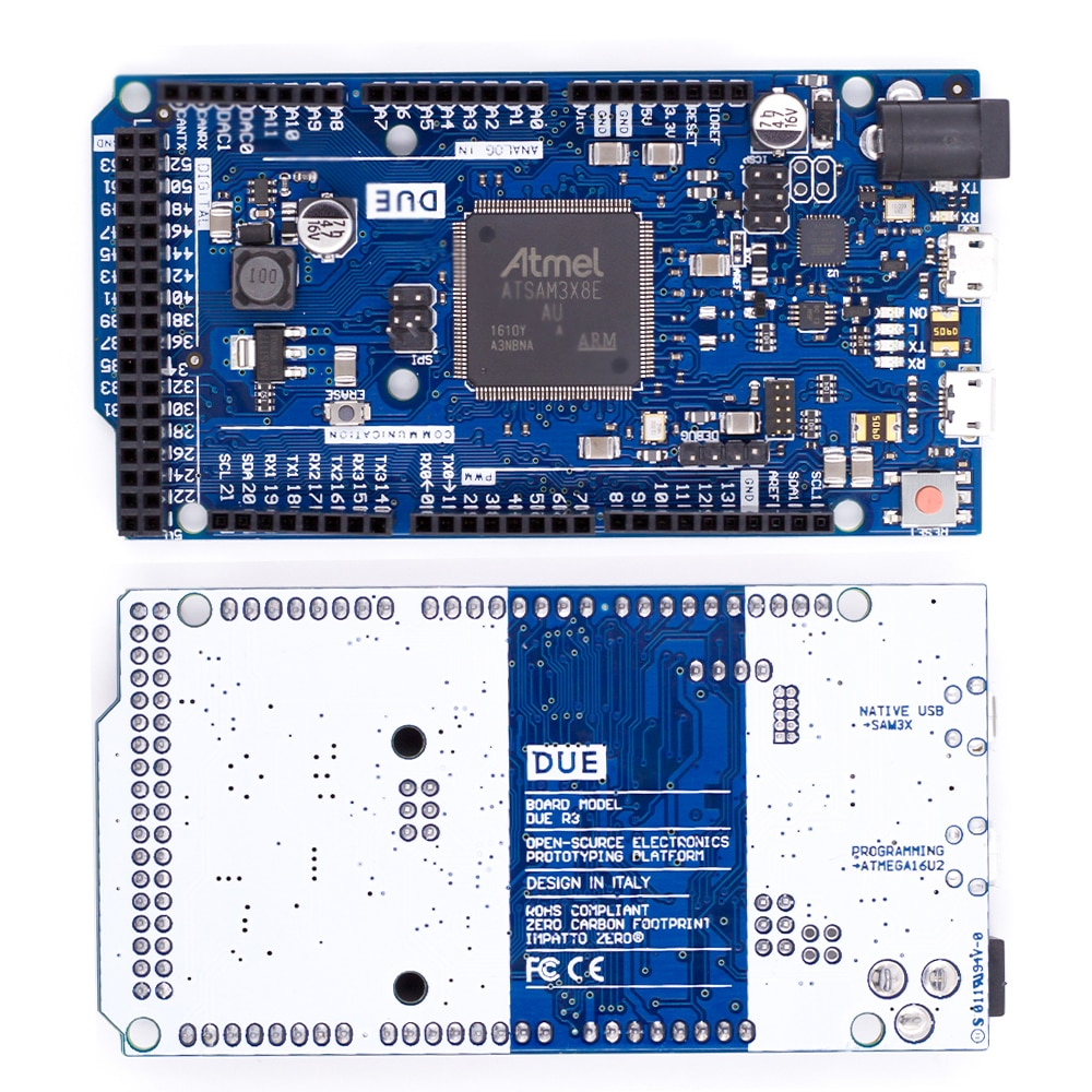 Nuevo oficial Compatible debido R3 Junta SAM3X8E de 32-bit brazo Cortex-M3/Mega2560 R3 Duemilanove 2013 para Arduino UNO debido Junta