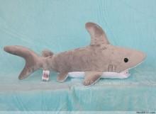 Stuffed animal 40cm gray shark plush toy doll high quality gift present w1157