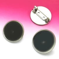 20pcs with 20mm brooch pin jewelry reverse mould pin stainless steel diy jewelry accessories