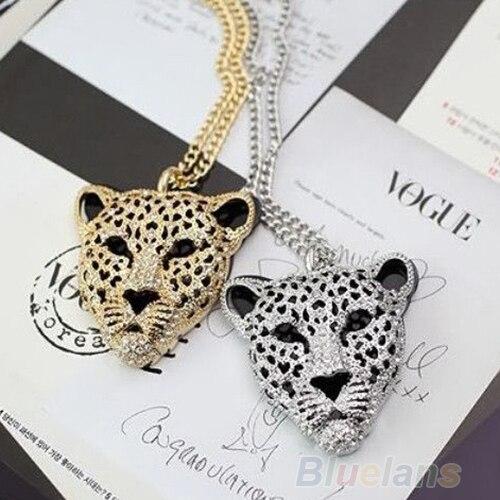 2020 nouveau dernier Design de mode rétro Vintage creux léopard tête pendentif collier bijoux décor accessoire cadeau pour les femmes