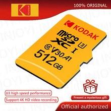 Original Kodak 512GB Micro SD card class 10 16G 32G 64GB U3 4K High Speed cartao de memoria Flash Speicher Karte 128gb mecard C10