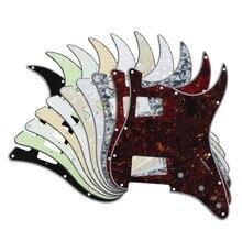 FLEOR-Pickguard pour guitare électrique, HH plaque à gratter avec vis pour 11 trous, accessoires de guitare Standard américaine FD Style Strat