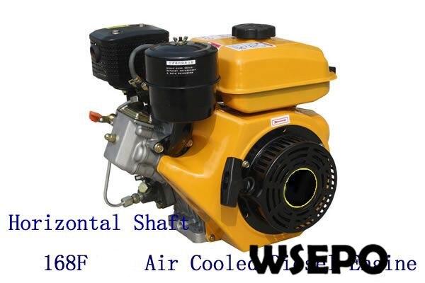 Fonte Direta Da fábrica! WSE-168F 3.5HP motor de 196CC Max 2.2KW Poder do eixo Horizontal refrigerado a ar do motor diesel de pequeno porte com a Aprovação do CE