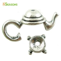 8seasons 2016 hot sale jewelry components 10 sets silver colorgolden color teapot bead caps jewelry findings 21x9mm 7x3mm