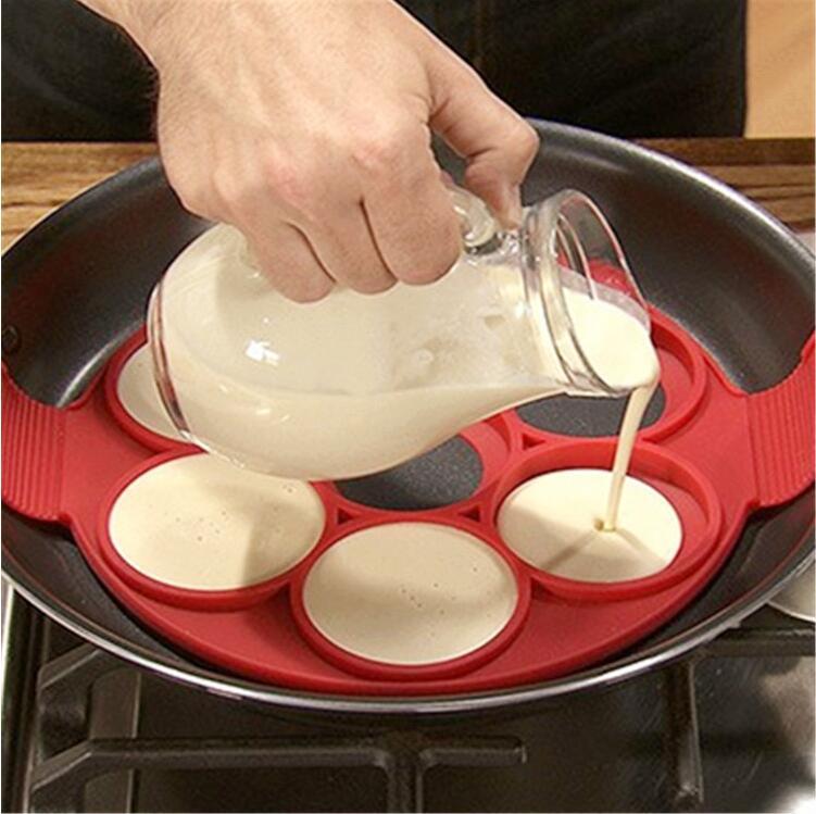 Utensilio para hacer tortitas de huevo, utensilio antiadherente, fácil, fantástico molde para tortillas, utensilios de cocina, utensilios de cocina de silicona