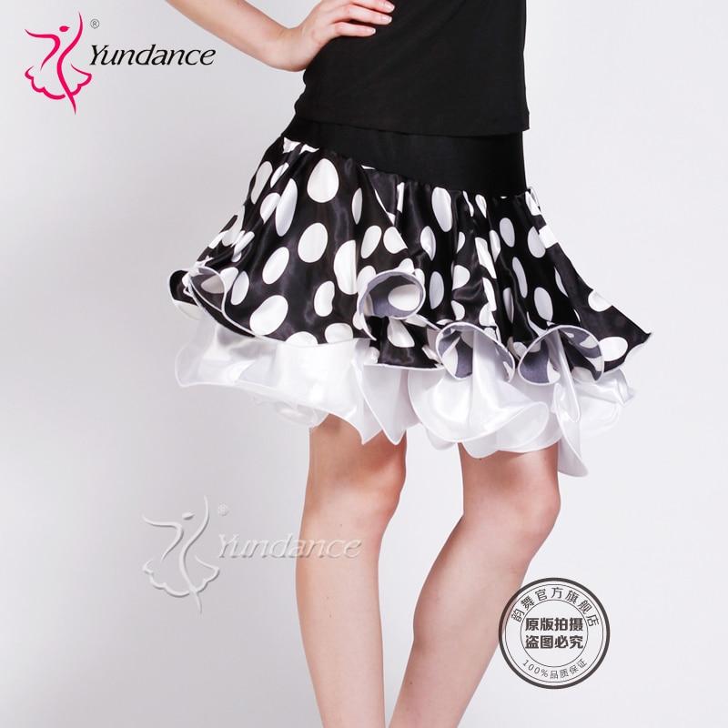 Falda de baile latino personalizada para mujer traje de baile moderno Samba cha-cha vestido de baile promoción B-2744
