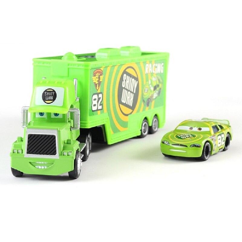 Coches de Disney Pixar coches Mack tío No.82 brillante cera Racer camión Diecast coche de juguete suelto 155 marca nueva Disney los coches 3 envío gratis